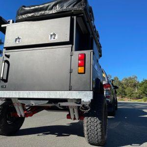 exceed camper trailer traveling