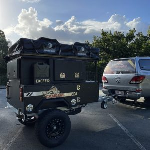 exceed roof top tent trailer packed