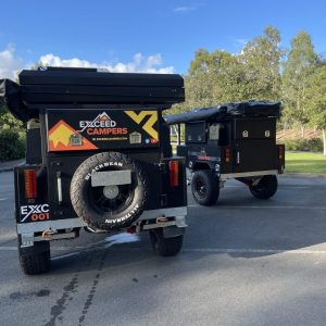 exceed off-road camper trailers packed