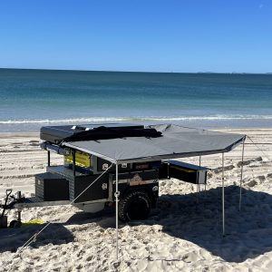 exceed camper trailer awning unpacked