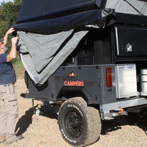 excced roof top tent camper setup