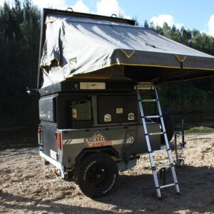 excced roof top tent camper unpacked